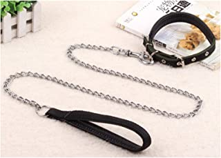 AMDXD Collar for Dogs and Leash Stainless Steel Collars Leashes Set for Dog Chain Gift for Pet