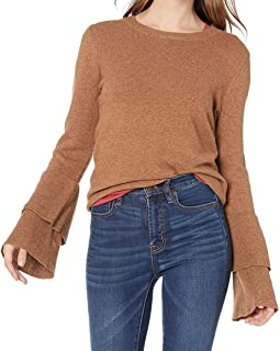 J.Crew Mercantile Women's Sweater Brown US Size XS Bell Sleeve Pullover