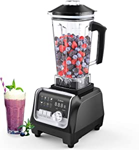 Colzer Professional Countertop Blender, 2200-Watt Blender for Shakes and Smoothies, Smoothie Blender with 7 Pre-programmed Settings & 9-Speed Control,High Speed Blender for Kitchen for Smoothie Maker
