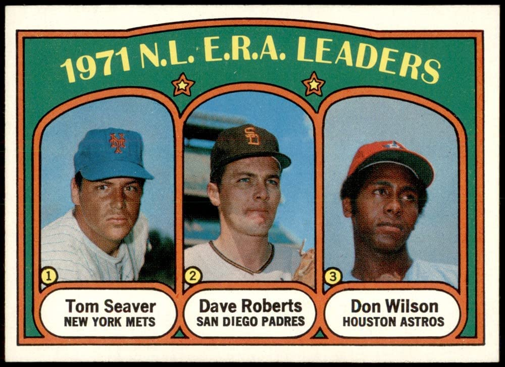 1972 Topps # Challenge the lowest price of Japan ☆ 91 NL Gifts ERA Leaders Don Roberts Tom Wilso Seaver Dave