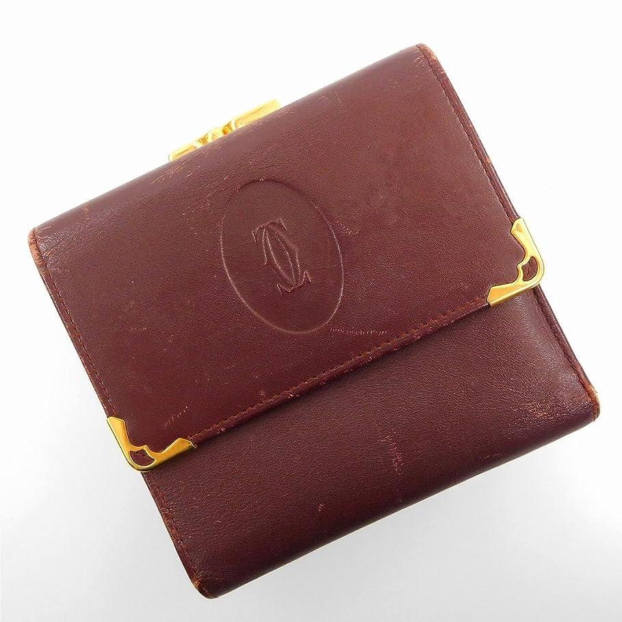 プラカード口ひげ昆虫を見る[カルティエ] Cartier 二つ折り財布 レザー X17251 中古