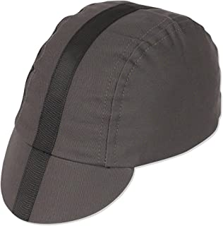 Pace Sportswear Classic Cycling Cap: Charcoal with Black Tape, XL