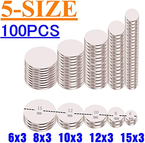 Disc Magnets,Permanent,Fridge,DIY,Building,Scientific,Craft and Office Magnets 5-Size(6x3,8x3,10x3,12x3,15x3) product image