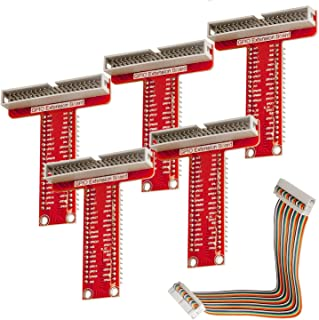 AZDelivery 5 x GPIO Breakout tarjeta y compatible Ribbon Cable para Raspberry Pi 3, 2 Modelo B y B + con E-Book incluido!