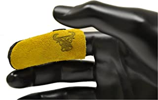 G & F Products 8128M Cowhide Leather Guard Finger Protection,  Medium