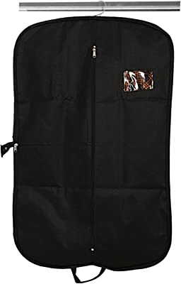 Kuber Industries Non Woven Exclusive Foldable Coat/Blazer Cover, Black