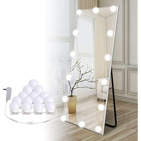 LSZ Mirror Headlight Simple and Modern Led Makeup Light Creative Personality Bathroom Waterproof Mirror Cabinet Dressing Light Bathroom Vanity Lighting Color : Three-Color dimming, Size : 41cm