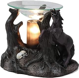 Ebros Fantasy Black Macabre Unicorn by Graveyard of Skulls Electric Oil Burner Tart Warmer Aroma Scent Statue Long Home Fragrance Decorative Skull Unicorns Accessory Figurine
