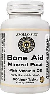 APOLLO SUN Calcium Citrate with Vitamin D - Vegan 600 mg Calcium Supplement with Vitamin D2, Magnesium, Zinc, Copper, and ...