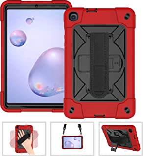 Galaxy Tab A 8.4 2020 Case, Heavy Duty Shockproof Protective Case with 360 Rotate Hand Strap/Kickstand/Shoulder Strap for ...