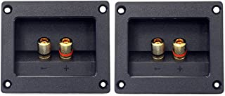 Kalevel® 2pcs DIY Home Car Stereo 2-way Speaker Box Terminal Round Square Spring Cup Connector Binding Post Banana Jack an...