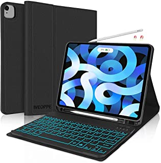 iPad Air 4th Generation Case with Keyboard, iPad Pro 11 Keyboard Case, Backlit Detachable Wireless Keyboard with Pencil Ho...