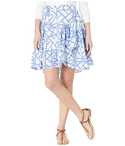 Vineyard Vines Lattice Wrap Skirt (Marlin) Women