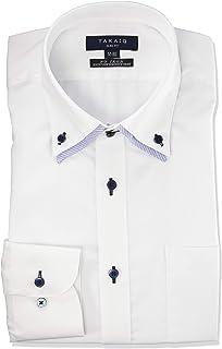 [タカキュー] ビジネス ワイシャツ 形態安定 スリムフィット 長袖シャツ メンズ