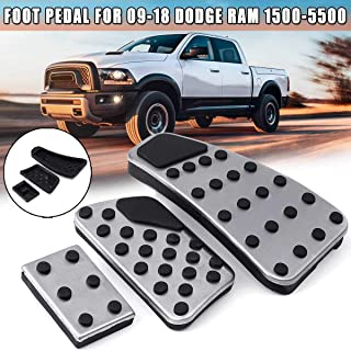 Aluminum alloy Car Styling Accelerator Gas Pedal Brake Pedal Cover AT For Dodge Ram Truck 2010-2019 Automotive Refit Pad