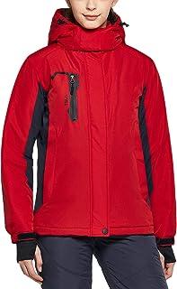 Women's Winter Ski Jacket, Waterproof Warm Insulated Snow Coats, Cold Weather Windproof Snowboard Jacket with Hood