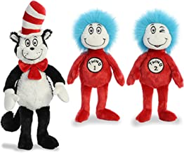 """Aurora Plush Bundle of 3, 20"""" Cat in the Hat, and 12"""" Thing 1 & 12"""" Thing 2"""
