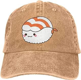 EVA&Lemon Shrimp Sushi Denim Hats Adjustable Baseball Cap Dad Hats