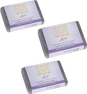 NATURE LEAGUE – LAVENDER AND ROSEMARY | 100% Natural Soap | Handmade | Ayurvedic | Sulphate Free | Paraben Free | Phthalat...