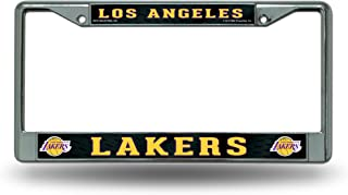 Rico Industries Los Angeles Lakers Chrome Frames W/Black Insert