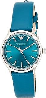 Emporio Armani Womens Quartz Watch, Analog Display and Leather Strap AR1804