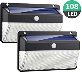 comprar comparacion Luz Solar Exterior 108LED, Kilponen Foco Solar Exterior con Sensor de Movimiento Lámpara Solar Impermeable Gran Ángulo 270...