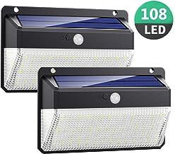 Luz Solar Exterior 108LED, Kilponen Foco Solar Exterior con