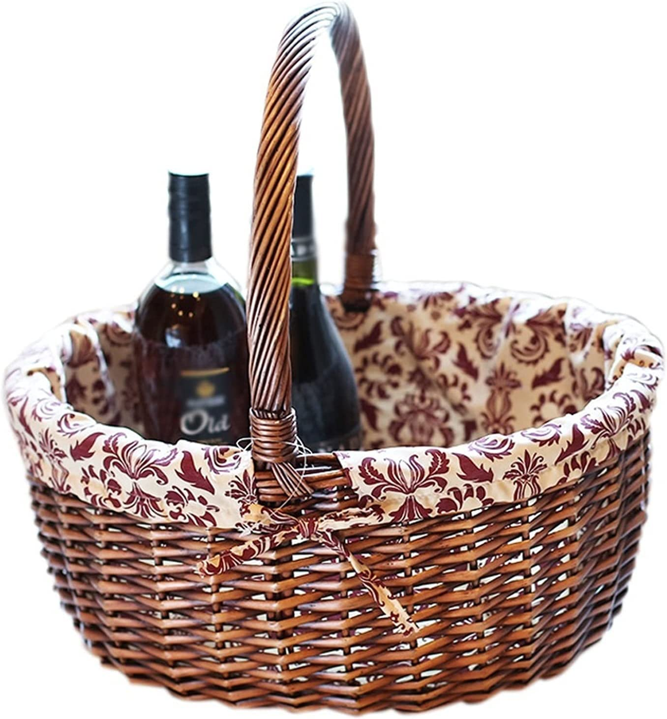 Classic lxm Fruit Basket Rattan Storage overseas Home P Gift Bamboo