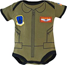 Trooper Clothing Flight Suit Infant Bodysuit (OD Green)