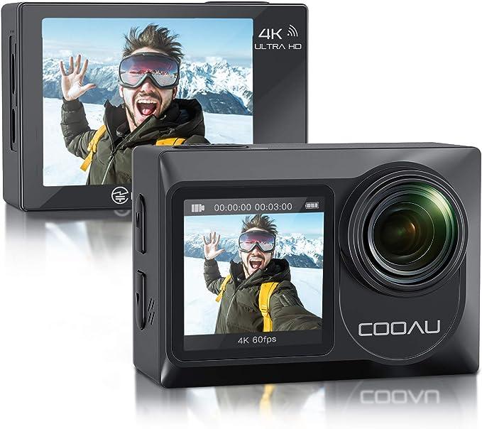 13 opinioni per COOAU Action Cam Nativo 4K 60fps 20MP Touch Screen Wi-Fi videocamera con doppio