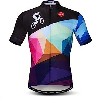 Cycling Jersey Men, Men`s Bike Shirt Short Sleeve Tops S-XXXL,Lycra Cuffs