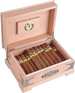Humidors Massivt trä cigarr cederträ förvaring cigarr skåp stark luftgenomtränglighet lätt att bära (storlek: 28 x 20,6 x ...