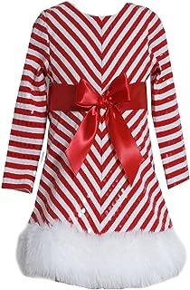 Bonnie Jean Little Girls Sequins Striped Holiday Christmas Santa Dress