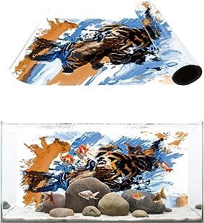 T&H Home Aquarium Décor Backgrounds - The Sea Landscape of Dolphin Fish Tank Background Aquarium Sticker Wallpaper Decoration Picture PVC Adhesive Poster