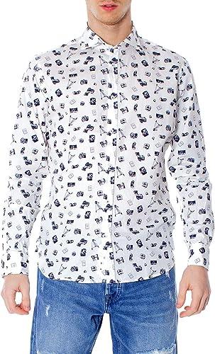 PRIMATE CLOTHING Homme 415Dblanc Blanc Coton Chemise