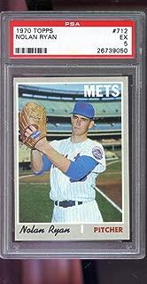 1970 Topps #712 Nolan Ryan New York Mets MLB EX PSA 5 Graded Baseball Card