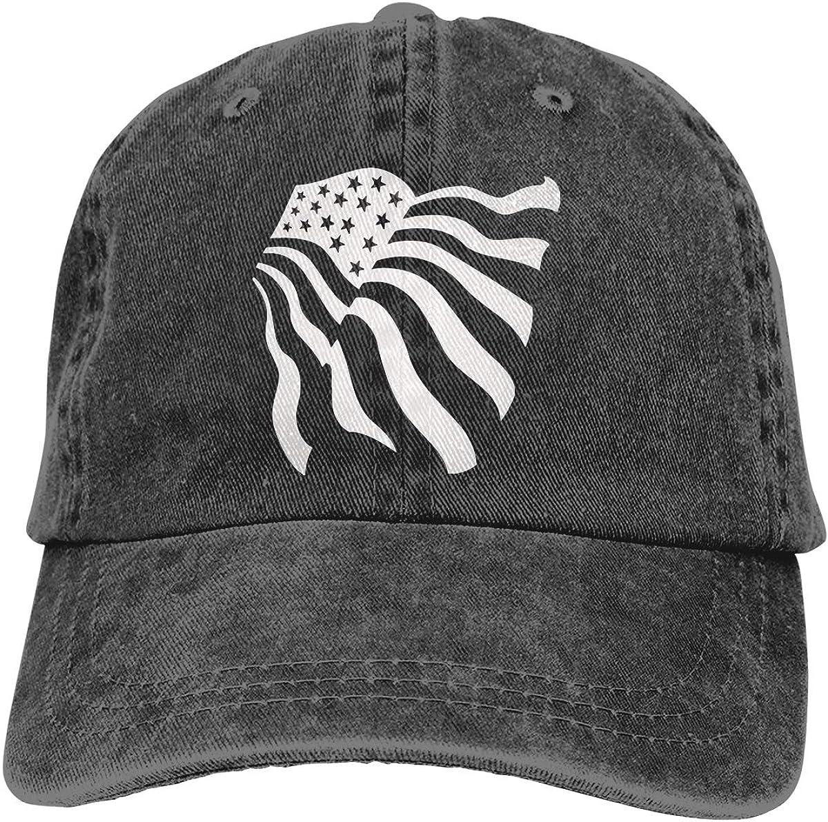 American Flag Denim Hat Adjustable Plain Cap Baseball Caps