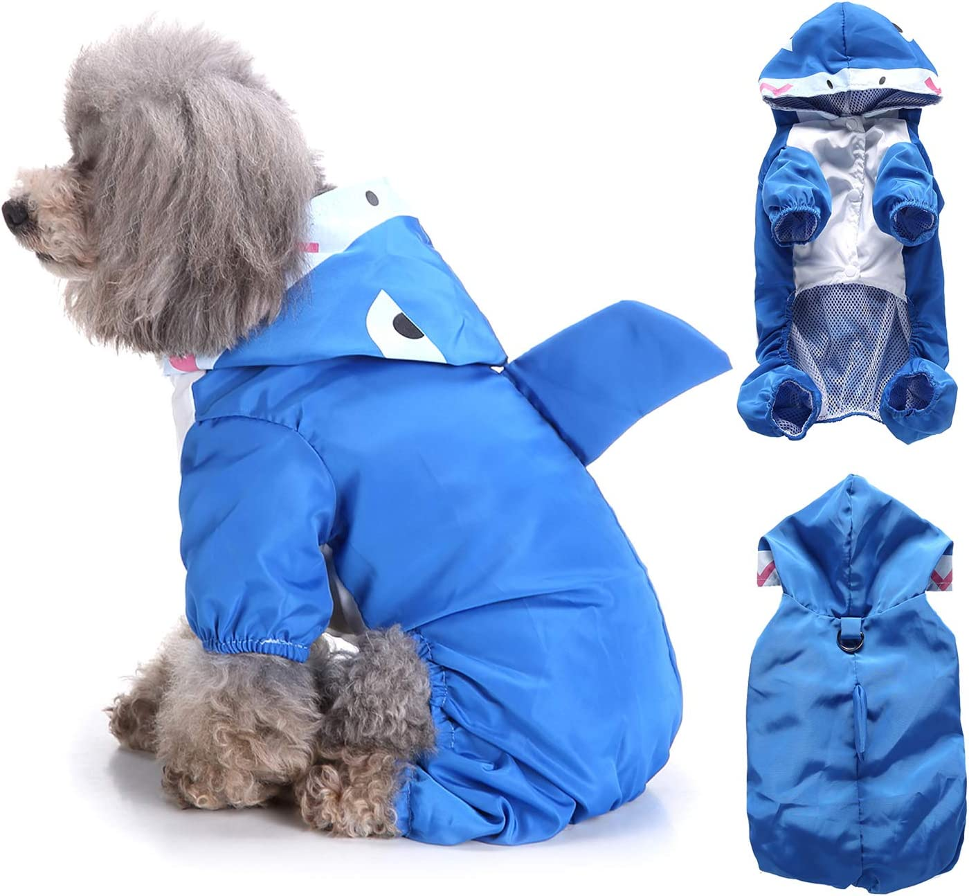 Ranphy Small Dog Hooded Raincoat Max 54% OFF Pet Cat Rain Waterproof Sale Jacket