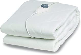 Goldair Electric Blanket with Mattress Protector Large Single, White
