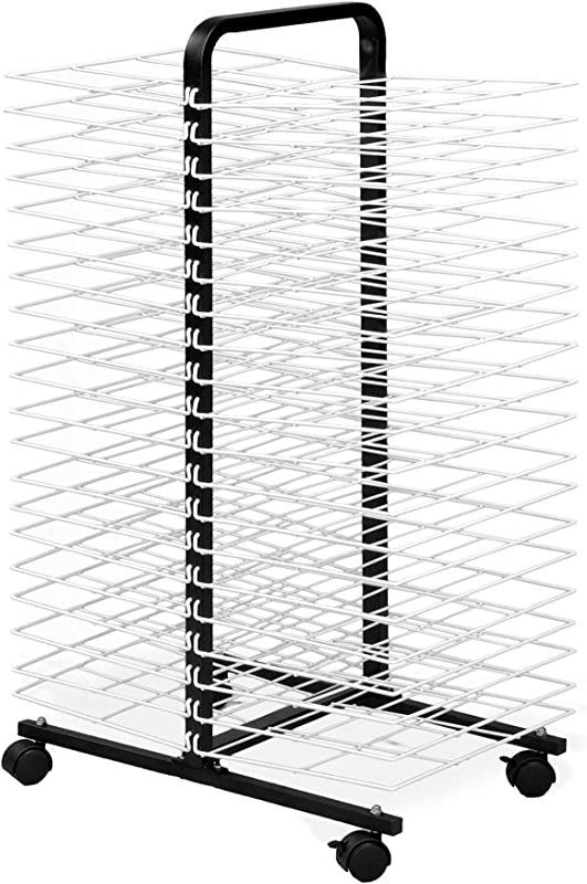American Educational Products A C1168 Drying Rack On Wheels 40 Shelf 7 Height 18 Wide 48 Length