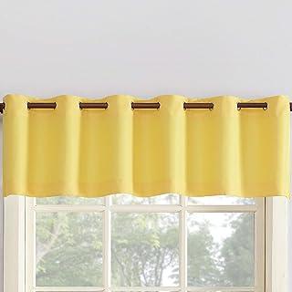 Amazon Com Yellow Valences Curtains Drapes Home Kitchen