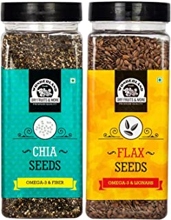 WONDERLAND FOODS (DEVICE) Roasted Flax Seed and Chia Seeds, 200 g (Pack of 2)