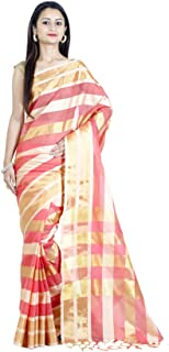 Chandrakala Women's Art Silk Indian Ethnic Banarasi Saree with Unstitched Blouse Piece(1073)