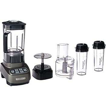 Cuisinart BFP-650GM Velocity Ultra Trio 1 HP Blender/Food Processor with Travel Cups, Gun Metal compact 9