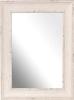 Inov8 A4 lavar British espejo marco de tamaño grande, madera de nogal, marrón