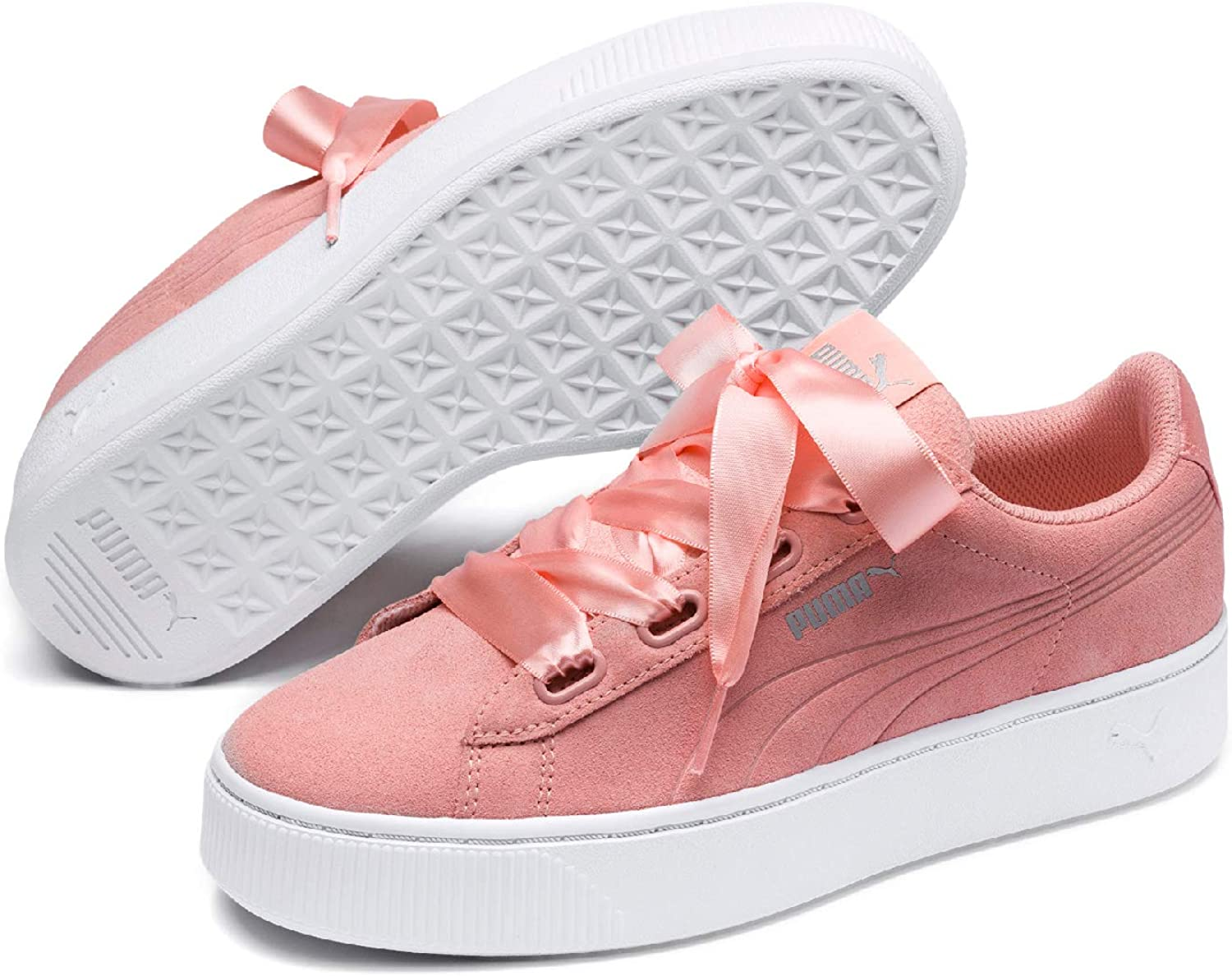 PUMA Women's Vikky Stacked Ribbon S Low-Top Sneakers