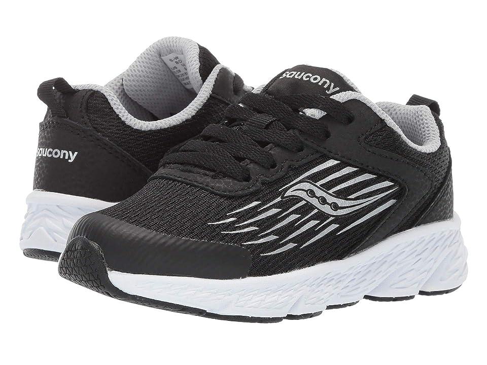 Saucony Kids Wind (Little Kid/Big Kid) (Black) Boys Shoes