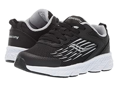 Saucony Kids Wind (Little Kid/Big Kid) (Black) Boys Shoes