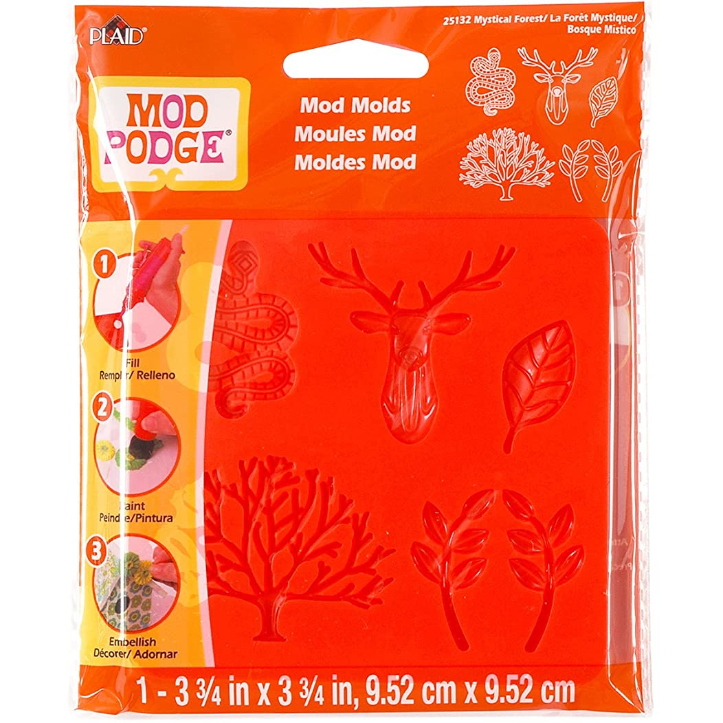 Mod Podge Mod Mold (3-3/4 by 3-3/4-Inch), 25132 Mystical Forest