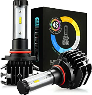 JDM ASTAR 4S 8000 Lumens Extremely Bright DIY 5 Color Temperature High Power 9005 All-in-One Fanless Design LED Headlight Bulbs, Fog Light Bulbs, DRL